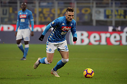 December 26, 2018 - Milan, Milan, Italy - Piotr Zielinski #20 of SSC Napoli in action during the serie A match between FC Internazionale and SSC Napoli at Stadio Giuseppe Meazza on December 26, 2018 in Milan, Italy. (Credit Image: © Giuseppe Cottini/NurPhoto via ZUMA Press)