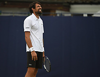 Jeremy Chardy on Day Six of the Fuzion 100 Surbiton Trophy at the Surbiton Racket & Fitness Club, Surrey, United Kingdom.<br /> Picture by Daniel Hambury/Focus Images Ltd 07813022858<br /> 07/06/2018