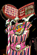 Sign for Circus Circus Hotel and Casino, Downtown Reno Nevada.