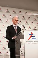ASEM, the president of the European Council Herman Van Rompuy