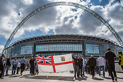 Coventry City fans fly their flag outside Wembley - Photo mandatory by-line: Jason Brown/JMP -  02/04//2017 - SPORT - Football - London - Wembley Stadium - Coventry City v Oxford United - Checkatrade Trophy Final