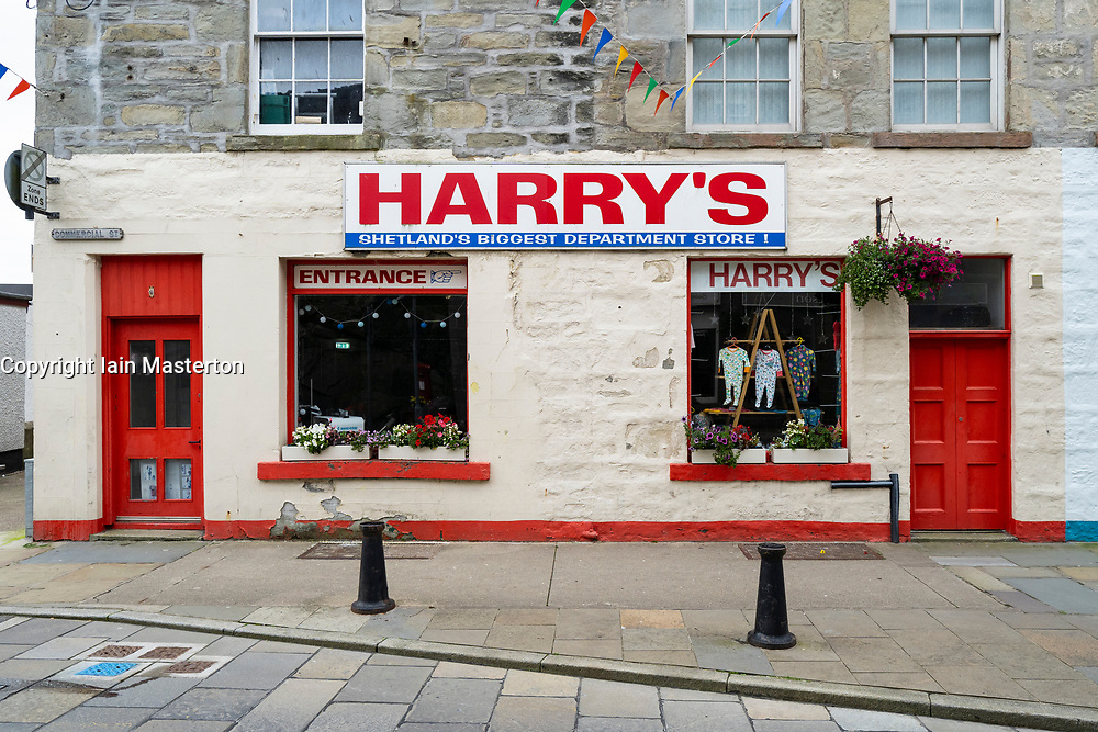 Exterior of Harry's department store on Commercial Street in Lerwick, Shetland , Scotland, UK