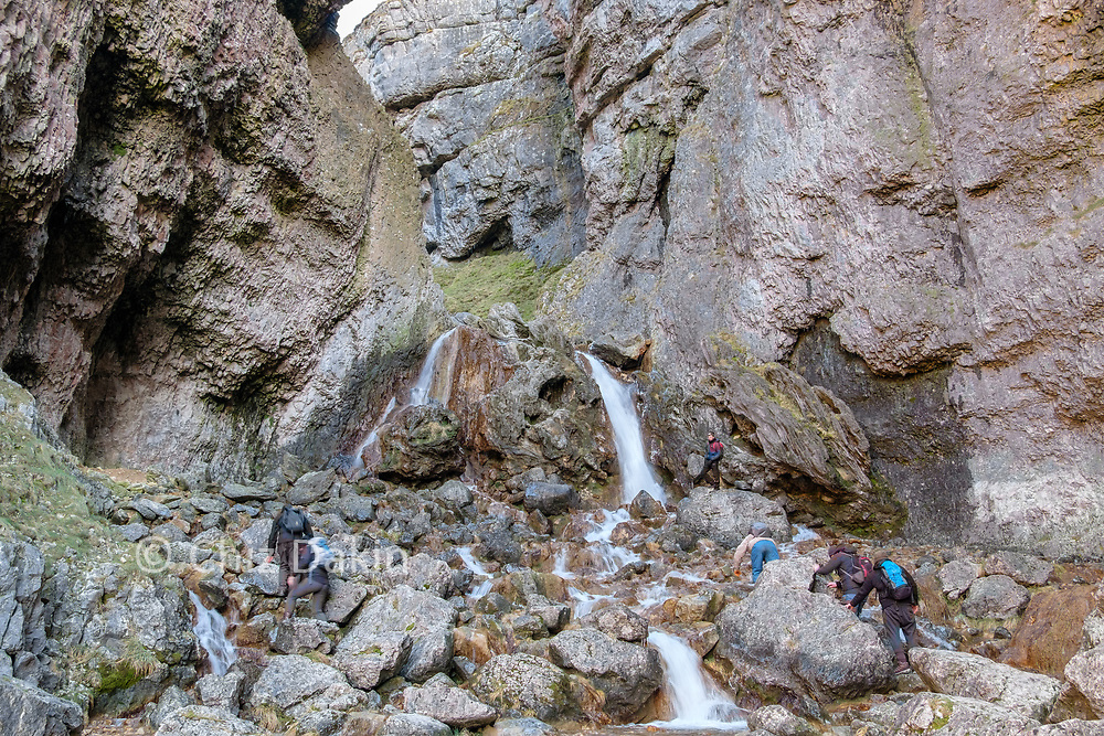 Gordale Scar is often climbed when its not too wet - it's best done on a day rather than a multi-day trip though!