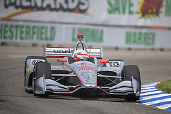June 1, 2018 - Detroit, Michigan, United States of America - WILL POWER (12) of Australia takes to the track for a practice session for the Detroit Grand Prix at Belle Isle Street Course in Detroit, Michigan. (Credit Image: © Stephen A. Arce/ASP via ZUMA Wire)