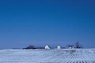 Minnesota. Farm in Lakefield, during winter
