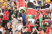 Fans, APRIL 17, 2016 - Rugby : HSBC Sevens World Series, Singapore Sevens match Kenya and Fiji (Cup Finals) at National Stadium in Singapore. (Photo by Haruhiko Otsuka/AFLO)