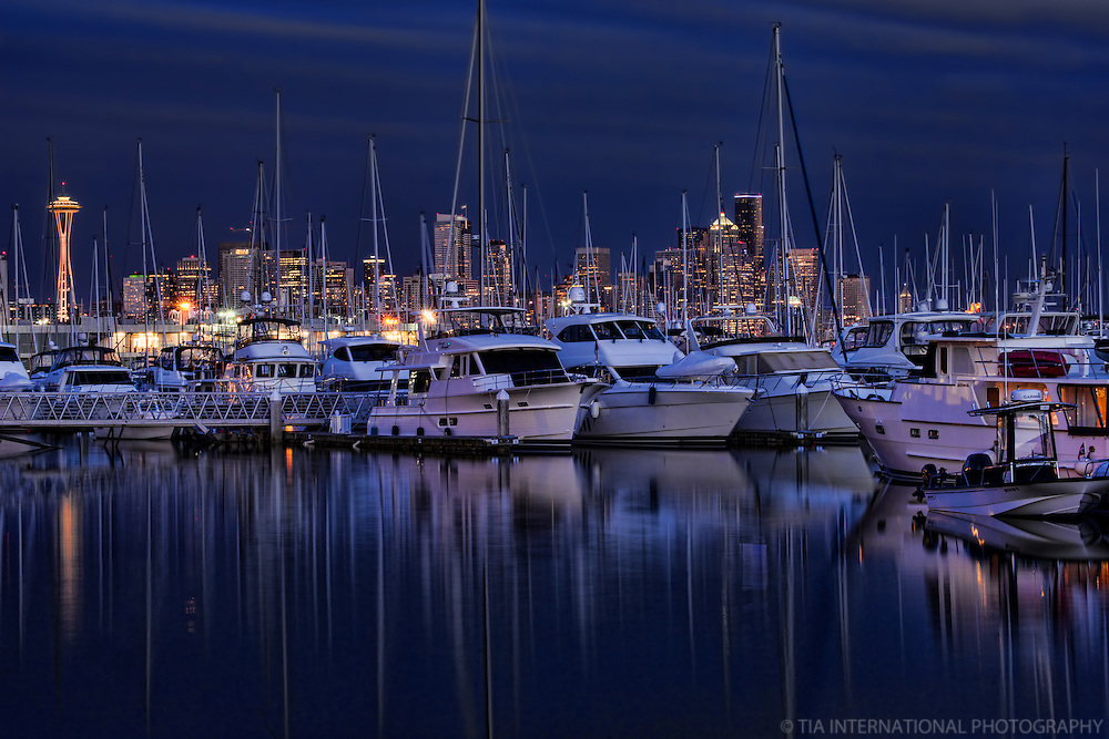 Elliott Bay Marina in the Evening