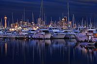 Elliott Bay Marina in the Evening