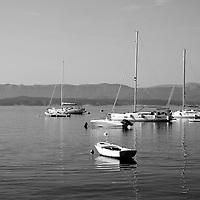 Sailing boats at sea in Bol Harbour,<br />Bol, Brac, Croatia.