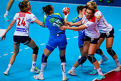 02-12-2019 JAP: Slovenia - Norway, Kumamoto<br /> Second day 24th IHF Womenís Handball World Championship, Slovenia lost the second match against Norway with 20 - 36. / Nina Zulic #18 of Slovenia