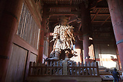 the Guardian King of the West, Todaiji inside the Todai, The Great Buddha, temple Nara Japan