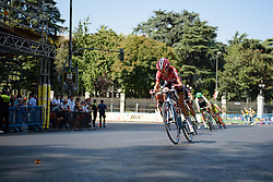 Claudia Lichtenberg (Lotto Soudal) attacks at Madrid Challenge by La Vuelta an 87km road race in Madrid, Spain on 11th September 2016.