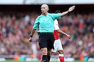 Referee Mike Dean looking on. Premier league match, Arsenal v Middlesbrough at the Emirates Stadium in London on Saturday 22nd October 2016.<br /> pic by John Patrick Fletcher, Andrew Orchard sports photography.