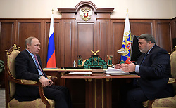 April 26, 2017 - Moscow, Russia - April 26, 2017. - Russia, Moscow. - Russian President Vladimir Putin and Head of the Federal Antimonopoly Service Igor Artemiev (right) during a meeting. (Credit Image: © Russian Look via ZUMA Wire)