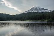 Mt Rainer and Reflection Lake.
