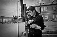 Local young men of Krasnaya Sloboda, home to the Mountain Jews. Quba/ Krasnaya Sloboda. 2004