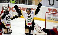 Ishockey GETLigaen 12.10.08  Lørenskoghallen Lørenskog - Stavanger Oilers<br /> <br /> Stan Collymore feirer mål<br /> <br /> Foto: Eirik Førde