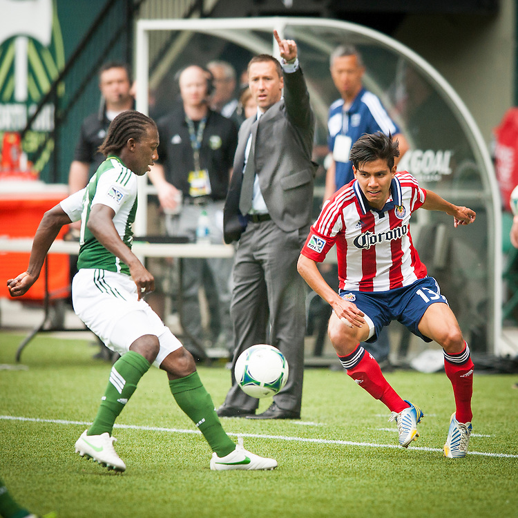 Game action between the Portland Timbers v Chivas USA