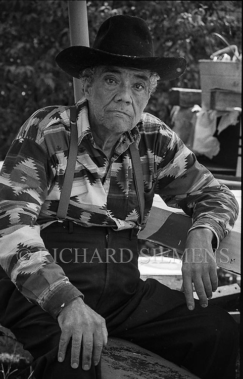 Portraits of Sidney Kelsey at his home in Edmonton, June 2, 1996