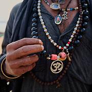 Holy man lingering the ghats of Varanasi