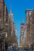 NEW YORK CITY- MARCH 26, 2018 : streets of Greenwich Village Manhattan Landmarks