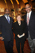 """30 March 2010-New York, NY- l to r: Al Mance, Louise Guido and Bill Allaway at The Foundation for Social Change Announcement of Grammy Award-Winning Vocalist Patti Austin as The National Spokesperson for The Foundation for Social Change held at Longchamp on March 30, 2010 in Soho, New York City..The Foundation for Social Change mobilizes businesses to implement initiatives that benefit both their bottom line and the economic growth of their surrounding communities. We are a not-for-profit corporation focused primarily on U.S. issues. Our work is based on the principle: ?""""Do good to get good."""""""