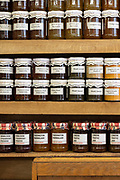 Home made preserves neatly shelved at Paul Rothe & Son delicatessen on the 3rd October 2019 in London in the United Kingdom.