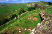 Hadrian s wall Walltown Crag, Northumberland, England, UK
