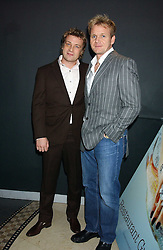 Left to right, chefs JAMIE OLIVER and GORDON RAMSAY at the Harpers and Moet Restaurant Awards 2005 held at Floridita, Wardour Street, London W1 on 31st October 2005.<br /><br />NON EXCLUSIVE - WORLD RIGHTS