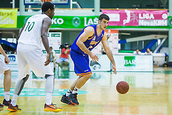 Marjan Cakarun of KK Helios Suns  and Christopher Booker of KK Zlatorog during basketball match between KK Zlatorog and KK Helios Suns in 1st match of Nova KBM Slovenian Champions League Final 2015/16 on May 29, 2016  in Dvorana Zlatorog, Lasko, Slovenia.  Photo by Ziga Zupan / Sportida