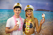 NO FEE PICTURES<br /> 20/1/16 Discover a variety of breathtaking holiday destinations at the Holiday World Show Dublin taking place in the RDS Simmonscourt from tomorrow, Friday 22nd January, through to Sunday, 24th January. Models Kerri-Nicole and Nathan are pictured exploring the exhibition stands at the RDS Simmonscourt. <br /> For further information on the Holiday World Show 2016 visit www.holidayworldshow.com Picture: Arthur Carron