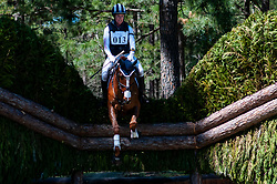 March 22, 2019 - Raeford, North Carolina, US - March 23, 2019 - Raeford, N.C., USA - ALEXANDRA KNOWLES of the United States riding MORSWOOD competes in the cross country CCI-4S division at the sixth annual Cloud 11-Gavilan North LLC Carolina International CCI and Horse Trial, at Carolina Horse Park. The Carolina International CCI and Horse Trial is one of North AmericaÃ•s premier eventing competitions for national and international eventing combinations, hosting International competition at the CCI2*-S through CCI4*-S levels and National levels of Training through Advanced. (Credit Image: © Timothy L. Hale/ZUMA Wire)