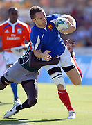 Simon Sarthou of France in action during the IRB Rugby Sevens tournament held at Adelaide Oval,Adelaide, South Australia,Saturday, April 5, 2008.<br /> Photo;Michael Oakes/SMP<br /> Conditions of Use: This image is intended for editorial use only (EG: news or commentary, print or electronic).  Any commercial or promotional use requires additional clearance.  Please contact for details.
