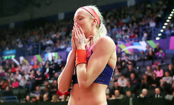 USA's Sandi Morris wins gold at the Woman's Pole Vault Final during day three of the 2018 IAAF Indoor World Championships at The Arena Birmingham.
