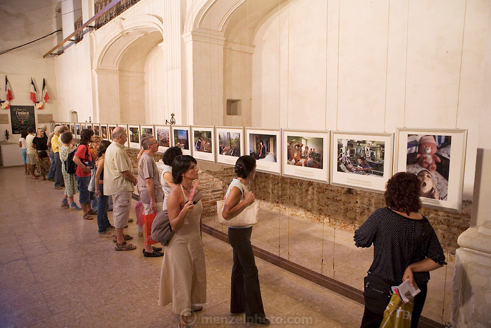 Gerd Ludwig's photos of Chernobyl , one of the many photo exhibits at Visa pour l'image International festival of photojournalism, held in Perpignan, France.