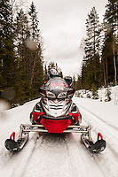 Snowmobiling in Swedish Lapland, Sweden