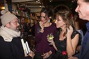 JAMES BRETT; ANNA MAXWELL;  ALLIE ESIRI, Allie Esiri's The Love Book launch party , Daunt Books <br /> 83 Marylebone High Street, London. 5 February 2014
