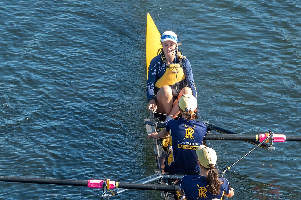 Crews training on Kerrs Reach, Monday 4 March 2019, Christchurch.<br /> <br /> © Copyright photo Steve McArthur / @RowingCelebration   www.rowingcelebration.com