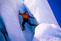 Ice climber, Worthington Glacier, near Valdez, Alaska USA