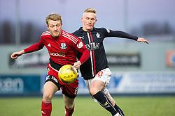 Ayr United's Robbie Crawford and Falkirk's Craig Sibbald. Falkirk 1 v 1 Ayr United, Scottish Championship game played 14/1/2017at The Falkirk Stadium .
