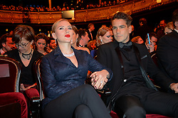 29-year-old actress Scarlett Johansson is expecting her first child with fiance Romain Dauriac it was confirmed. Johanssonís pregnancy news comes six months after her rep confirmed that she was engaged to French journalist Dauriac. The couple first went public with their romance in November 2012. File photo : Scarlett Johansson and boyfriend Romain Dauriac arriving at the 39th Annual Cesar Film Awards ceremony held at the Theatre du Chatelet in Paris, France on February 28, 2014. Photo by Bernard-Briquet-Orban/ABACAPRESS.COM