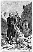 Johann Friedrich Oberlin (1740-1826) Lutheran philanthropist and pastor in Vosges region of France, encouraging his parishioners to construct road to decrease their isolation. He also established schools. Wood engraving c1880.