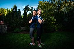 Anja and Marusa Stangar during COVID-19 Isolation on Maj 8, 2020 in Ljubljana, Slovenia. Photo by Peter Podobnik / Sportida
