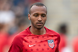 May 28, 2018 - Chester, PA, U.S. - CHESTER, PA - MAY 28: United States midfielder Julian Green (16) warms up prior to the international friendly match between the United States and Bolivia at the Talen Energy Stadium on May 28, 2018 in Chester, Pennsylvania. (Photo by Robin Alam/Icon Sportswire) (Credit Image: © Robin Alam/Icon SMI via ZUMA Press)
