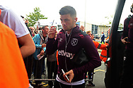 Aaron Creswell of West Ham arrives at The Hawthorns. Premier league match, West Bromwich Albion v West Ham United at the Hawthorns stadium in West Bromwich, Midlands on Saturday 16th September 2017. pic by Bradley Collyer, Andrew Orchard sports photography.