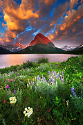 Sunrise over Swiftcurrent Lake, Glacier National Park, Montana