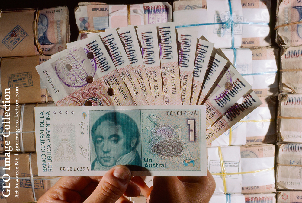 New currency is printed in an effort to curb inflation.
