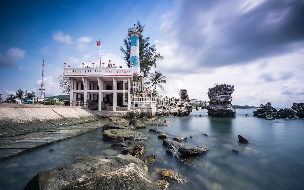 The lighthouse in Duong Dong on the resort island of Phu Quoc, Vietnam.