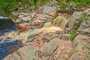 Mary Ann Falls. Cabot Trail. Cape Breton Island. Appalachian Mountain chain.  <br />Cape Breton Highlands National Park<br />Nova Scotia<br />Canada