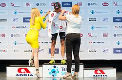 PAVLIC Marko (Slovenia) of Radenska Ljubljana, best in U23 classification during flower ceremony after the Stage 1 of 22nd Tour of Slovenia 2015 - Time Trial 8,8 km cycling race in Ljubljana  on June 18, 2015 in Slovenia. Photo by Vid Ponikvar / Sportida
